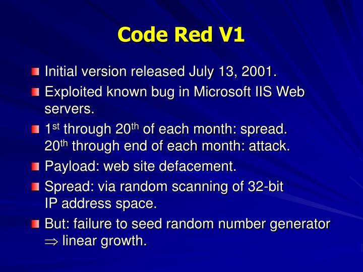 Code Red V1
