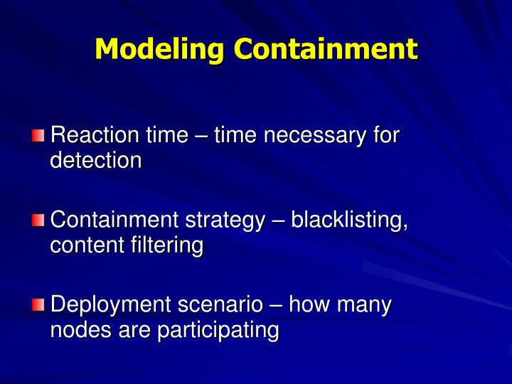 Modeling Containment