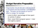 budget narrative preparation2