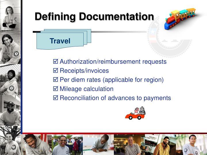 Defining Documentation
