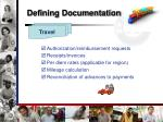 defining documentation