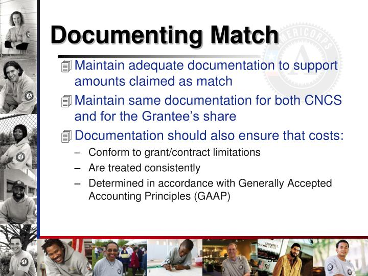 Documenting Match