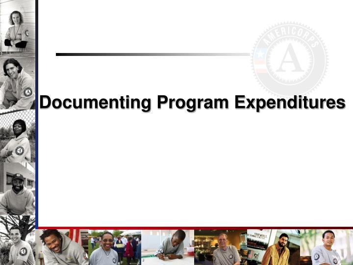 Documenting Program Expenditures