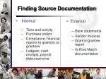 finding source documentation