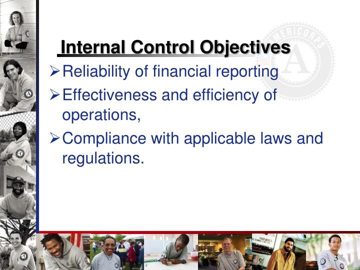 Internal Control Objectives