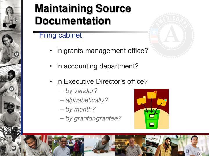 Maintaining Source Documentation