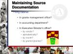 maintaining source documentation