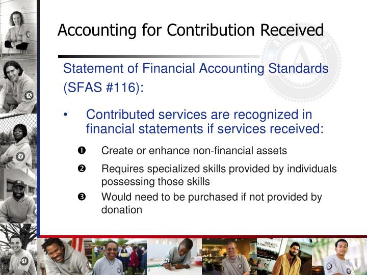 Accounting for Contribution Received