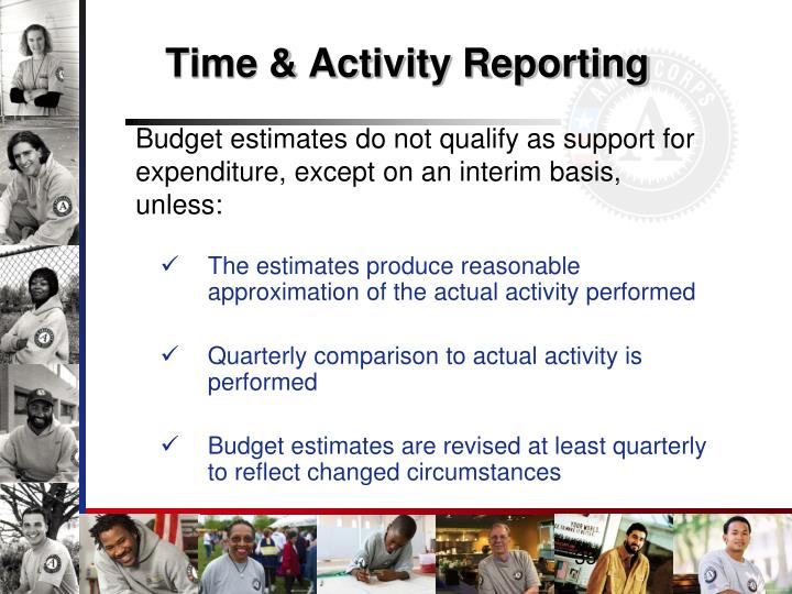 Time & Activity Reporting