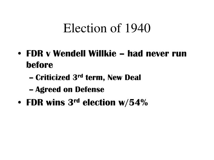Election of 1940