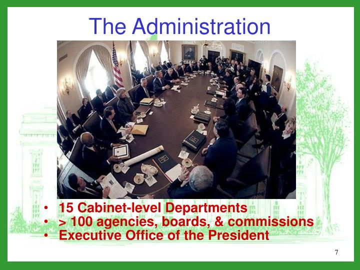 15 Cabinet-level Departments