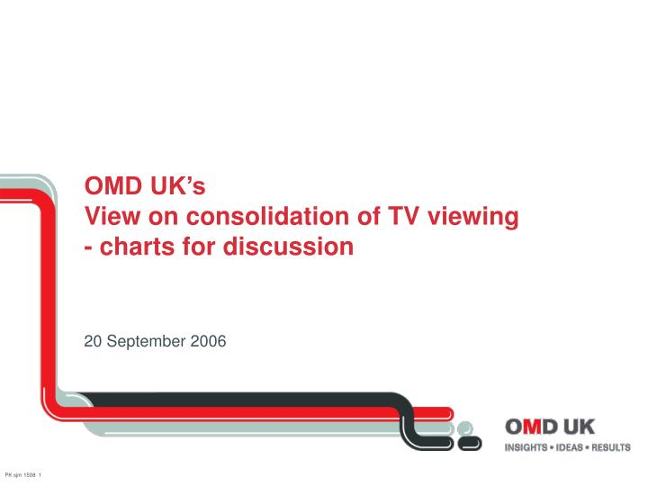 Omd uk s view on consolidation of tv viewing charts for discussion