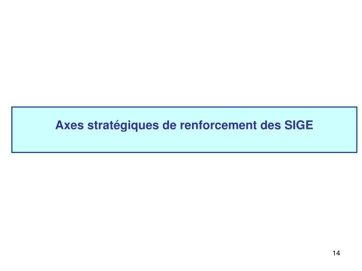 Axes stratégiques de renforcement des SIGE