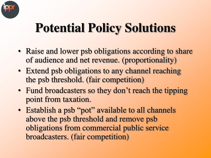 Potential Policy Solutions