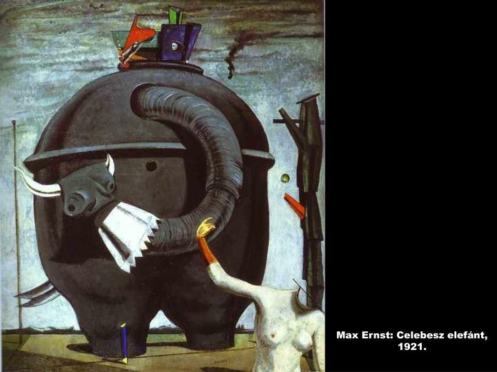 Max Ernst: Celebesz elefánt, 1921.