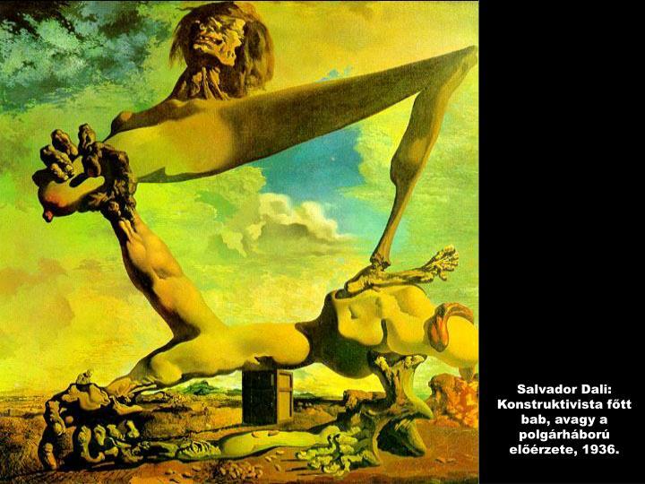 Salvador Dali: Konstruktivista főtt bab, avagy a polgárháború előérzete, 1936.