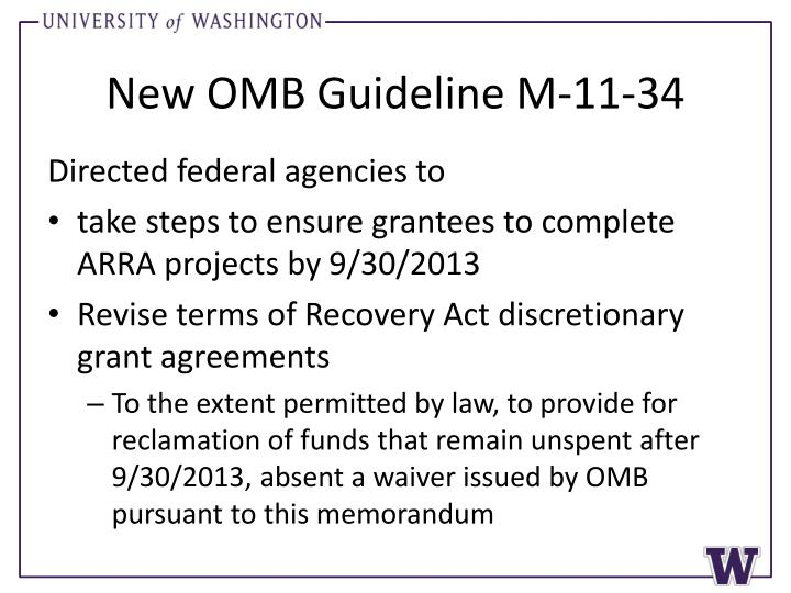 New omb guideline m 11 34