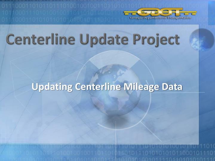 Centerline Update Project