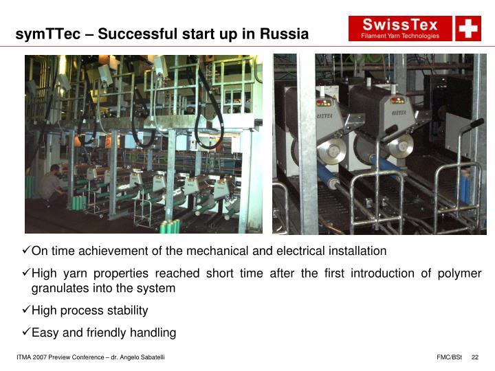 symTTec – Successful start up in Russia
