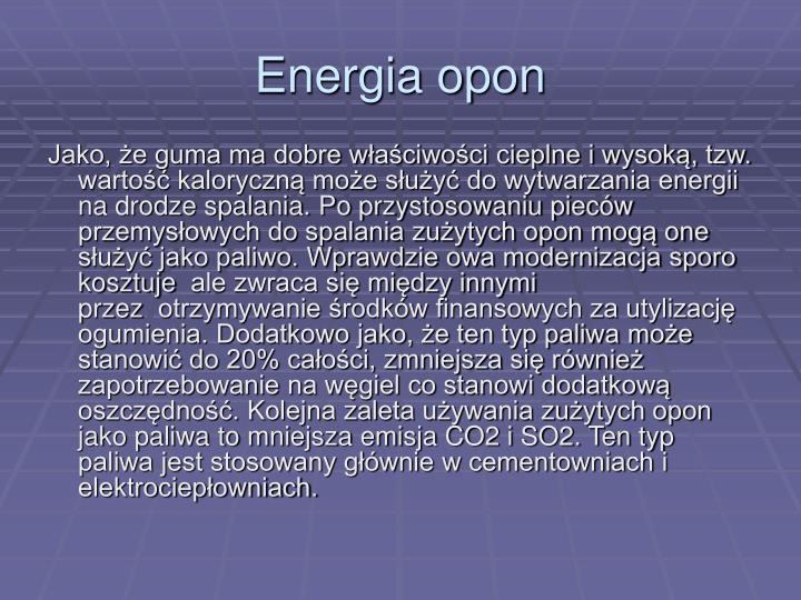 Energia opon