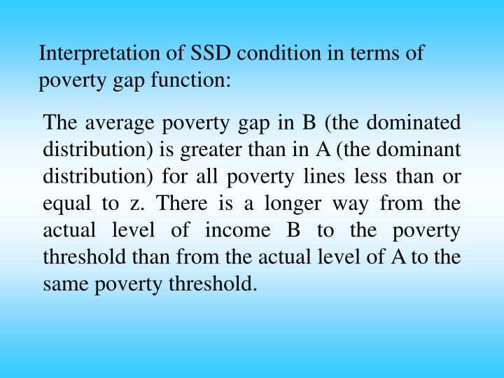 Interpretation of SSD condition in terms of poverty gap function: