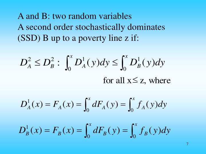 A and B: two random variables