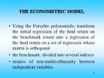 the econometric model