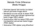 metode finite difference beda hingga