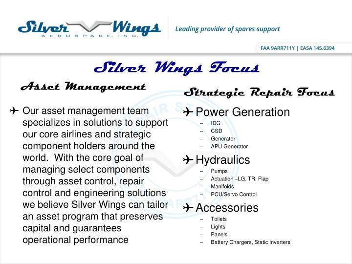 Silver Wings Focus