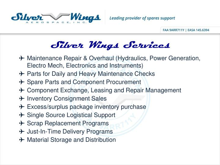 Silver Wings Services