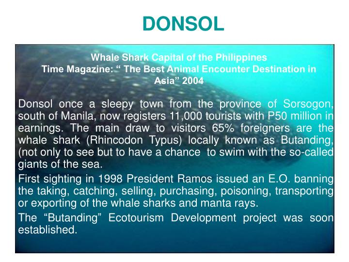 Whale Shark Capital of the Philippines