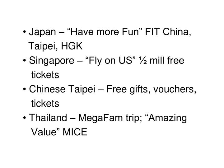 "Japan – ""Have more Fun"" FIT China,"