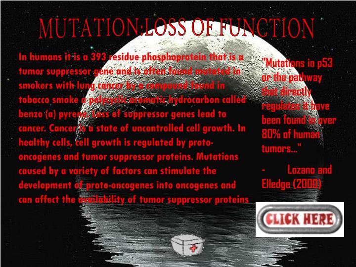 MUTATION:LOSS OF FUNCTION