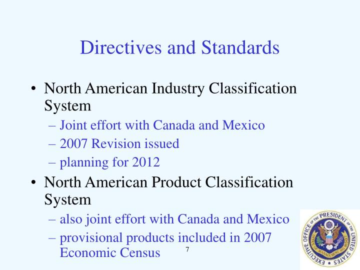 Directives and Standards