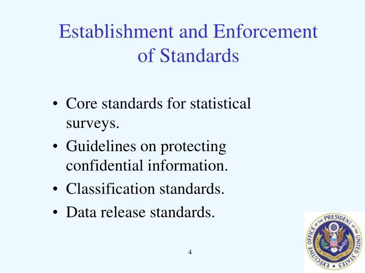 Establishment and Enforcement