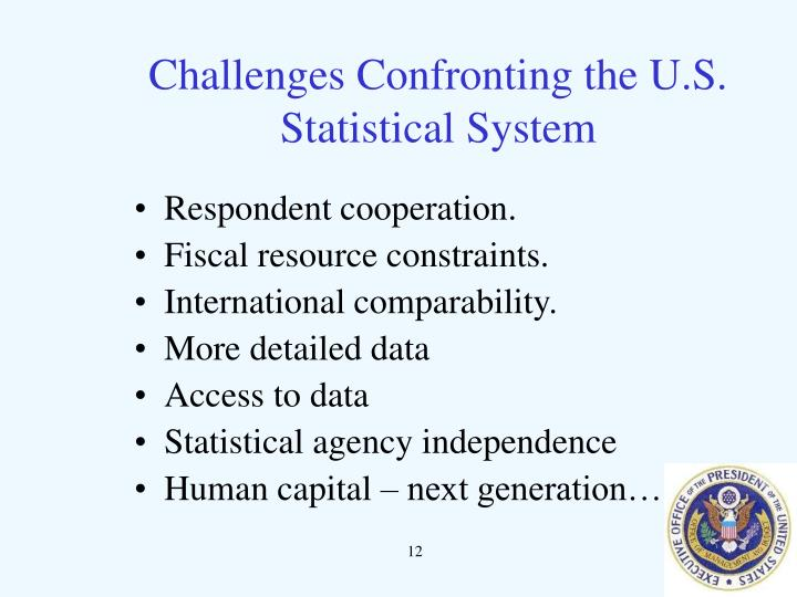 Challenges Confronting the U.S. Statistical System