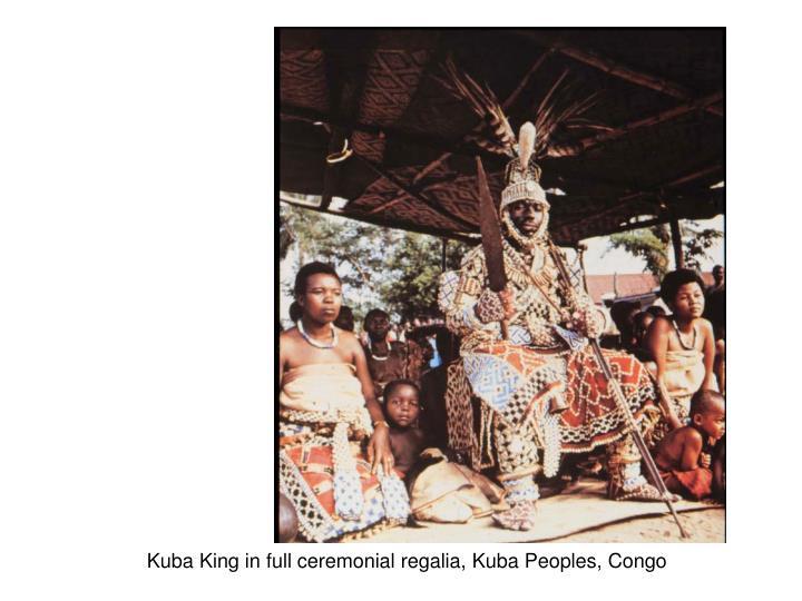 Kuba King in full ceremonial regalia, Kuba Peoples, Congo