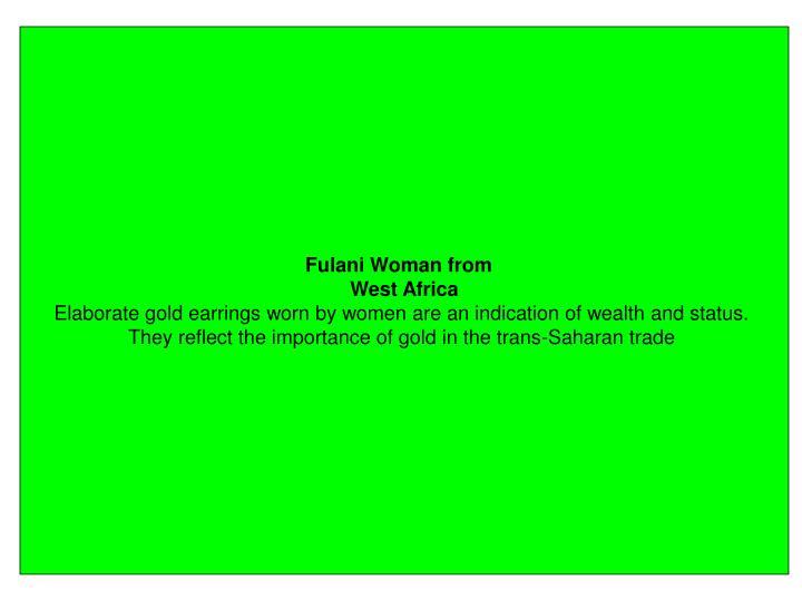 Fulani Woman from