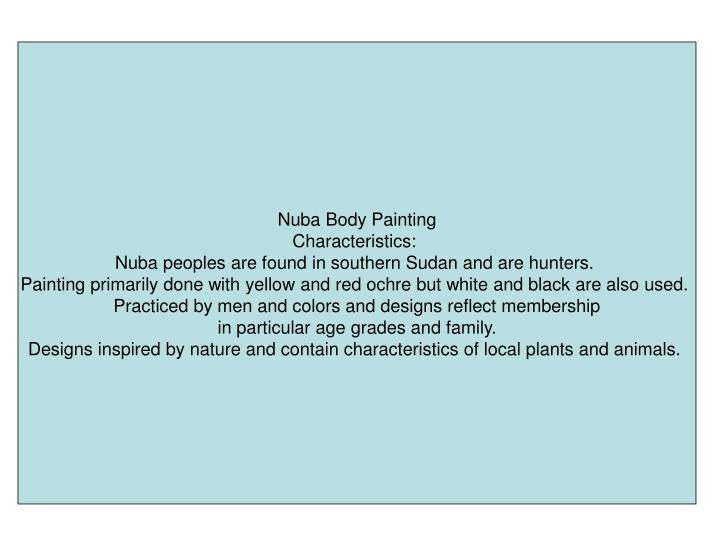 Nuba Body Painting