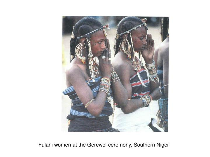 Fulani women at the Gerewol ceremony, Southern Niger