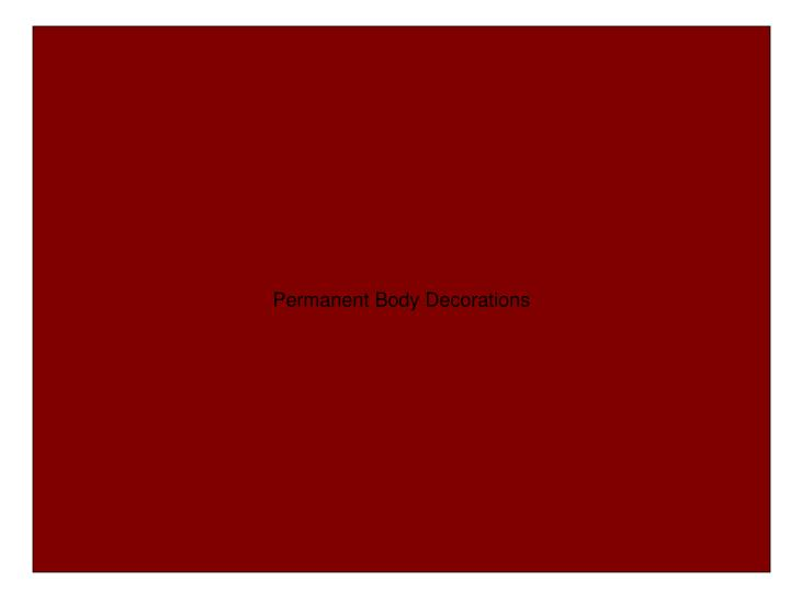 Permanent Body Decorations