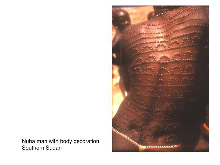 Nuba man with body decoration