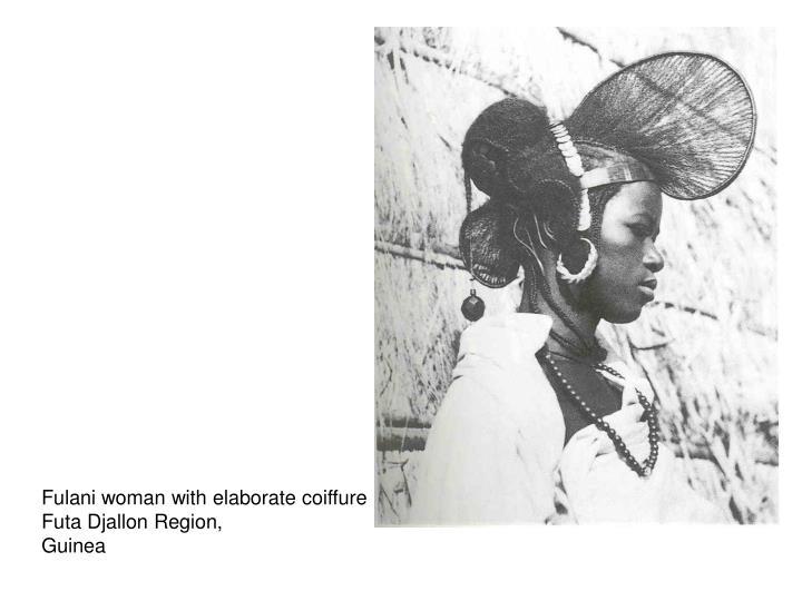 Fulani woman with elaborate coiffure
