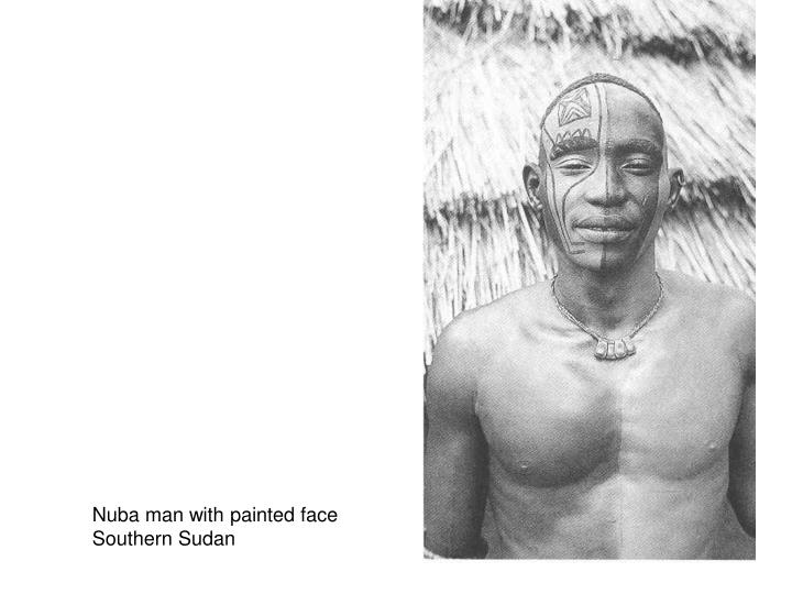 Nuba man with painted face