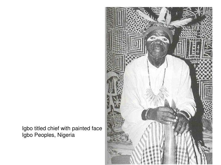 Igbo titled chief with painted face
