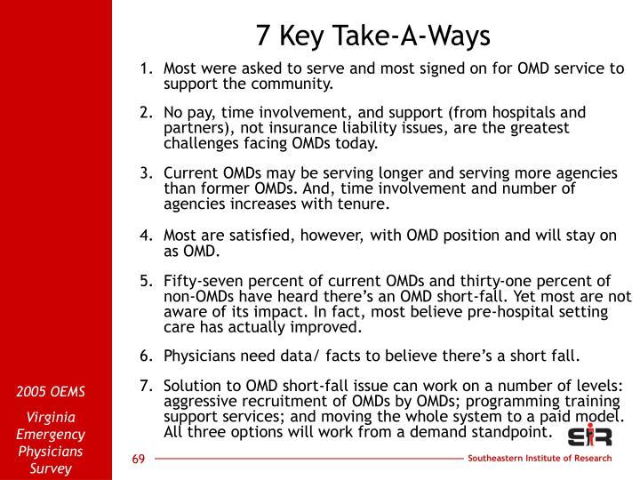 7 Key Take-A-Ways