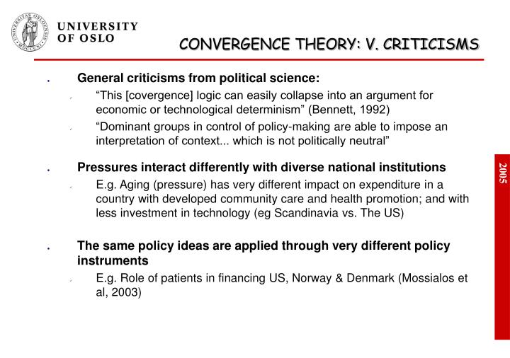 General criticisms from political science: