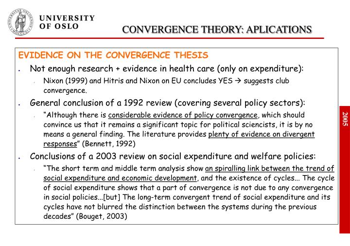 EVIDENCE ON THE CONVERGENCE THESIS