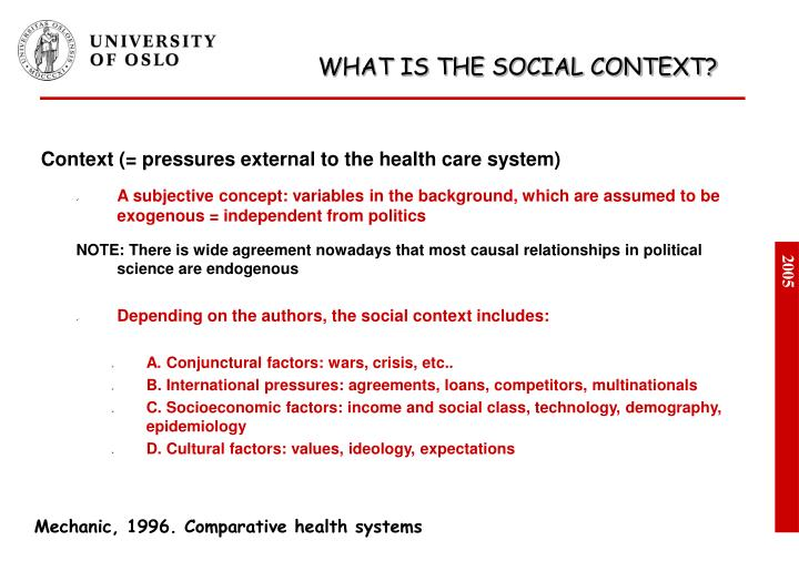 What is the social context