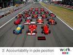 2 accountability in pole position